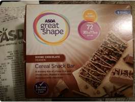Asda great shape cereal snack bar 5 pack - 50p *Edit: also porridge packs (4)