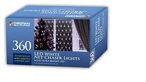 Christmas Workshop 88380 360 LED Chaser Net Lights - Bright White £5.23 @ Amazon