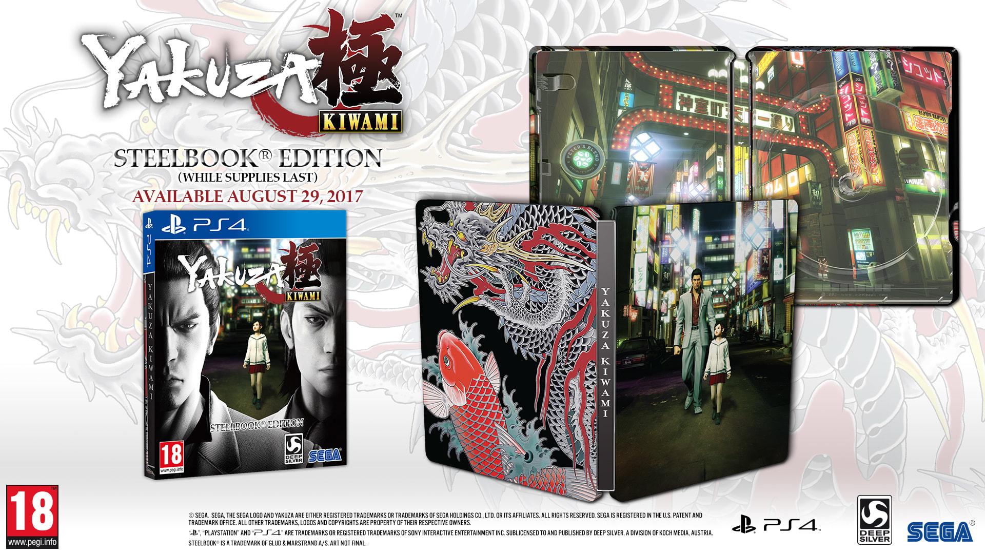 [PS4] Yakuza Kiwami - Steelbook Edition - £17.99 - Game