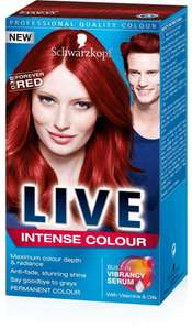 LIVE HAIR DYE 038 FOREVER RED INTENSE COLOUR 55p at Superdrug instore