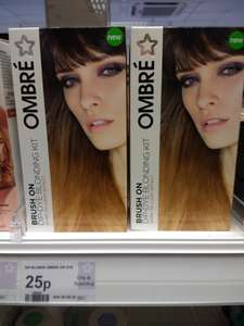 Superdrug ombre brush-on dip-dye blonding kit dark to light affect hair dye 25p instore