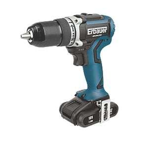 Erbauer 18V 2.0Ah Li-Ion Brushless Cordless Drill Driver with 2 Batteries £59.99 @ Screwfix