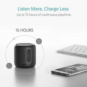 Anker SoundCore mini, Super Portable Speaker with 15-Hour Playtime, 20 Meter Bluetooth Range, Enhanced Bass, £14.44 Lightning Deal @ Amazon (Sold by AnkerDirect and Fulfilled by Amazon)