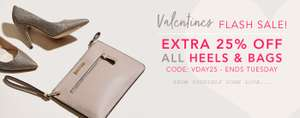 Extra 25% off Heels and Bags with Voucher @ Shoeaholic