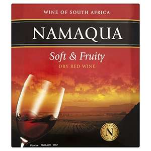 2.25l of wine. Namaqua Soft and Fruity Dry Red - £7.18 Amazon Pantry