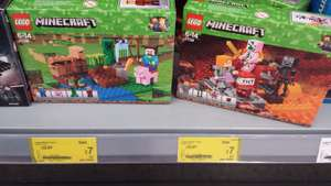 Lego Minecraft 21138 or 21139 £7 instore at Asda Cheltenham