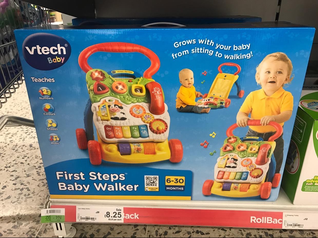 Vtech First Steps Baby Walker - £8.25 instore @ Asda Hyson Green, Nottingham