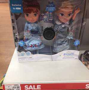 Frozen dolls half price from £12.50 Asda - Peterborough