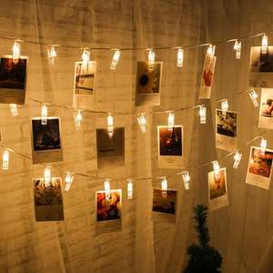 20 LED Photo Clip String Lights only £2.16 delivered with code at Rosegal