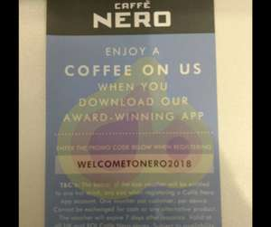 Free Hot Drink any size with Promo code in Caffe Nero App
