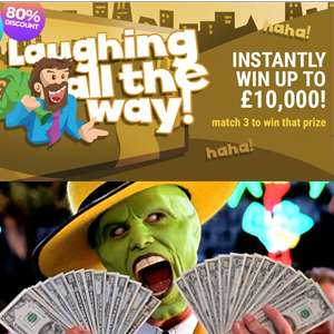 Play 5 'Laughing All The Way' Scratch cards for 75p @ Mylotto24 (New customers)
