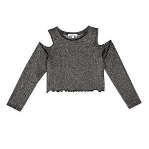 Cold shoulder sparkle girls top age 4-5 years £3 ( other sizes) @ debenhams