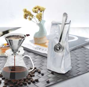 Coffee Filter, VickMall 304 Stainless Steel Pour Over Coffee Filter for 1-4 Cups with Free Coffee Spoon and Cup Cleaner Brush £4.99 prime / £8.98 non prime Sold by VICKMALLUK and Fulfilled by Amazon