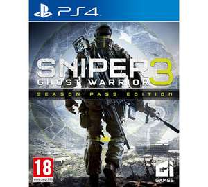 Argos.Sniper Ghost Warrior 3 PS4 season pass edition. - £15.99