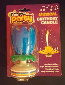 Magic Lotus Flower Musical Birthday Candle, Flower Opens and Plays Tune. £1 @ Poundworld