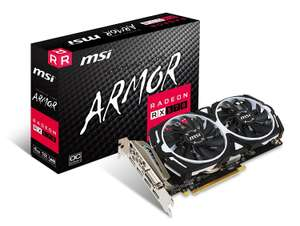 MSI Radeon RX 570 ARMOR OC 4 GB GDDR5 3xDP/HDMI/DVI-D Graphics Card - £244 @ Amazon IT