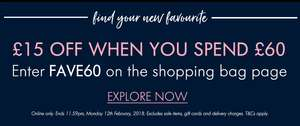 £15 off £60 spend at Space NK plus free standard delivery