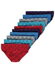Boys 10 pack star print briefs age 4-5 years ONLY - now £3 @ asdageorge