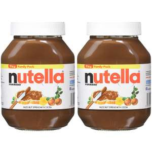 FERRERO Nutella Hazelnut Chocolate Spread, 1kg (Pack of 2) £7.60 Prime / £12.35 Non Prime @ Amazon