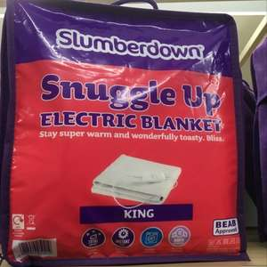 Slumberdown snuggle up electric blanket (King Sized) - £21 instore @ Tesco (Sutton Coldfield)