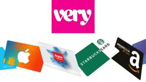 FREE £5 gift card with very order £35