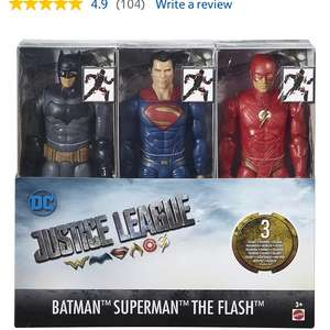 Justice league pack of 3 12 inch Figures £10 @ Tesco INSTORE (Port Glasgow)