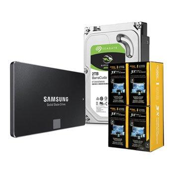 "500GB Samsung 850 EVO 2.5"" SATA3 SSD + 2TB Seagate BaraCuda 3.5"" SATA3 HDD Storage Drive Bundle + Antec 3X Strength Wipes £191.98 Delivered @ Scan"