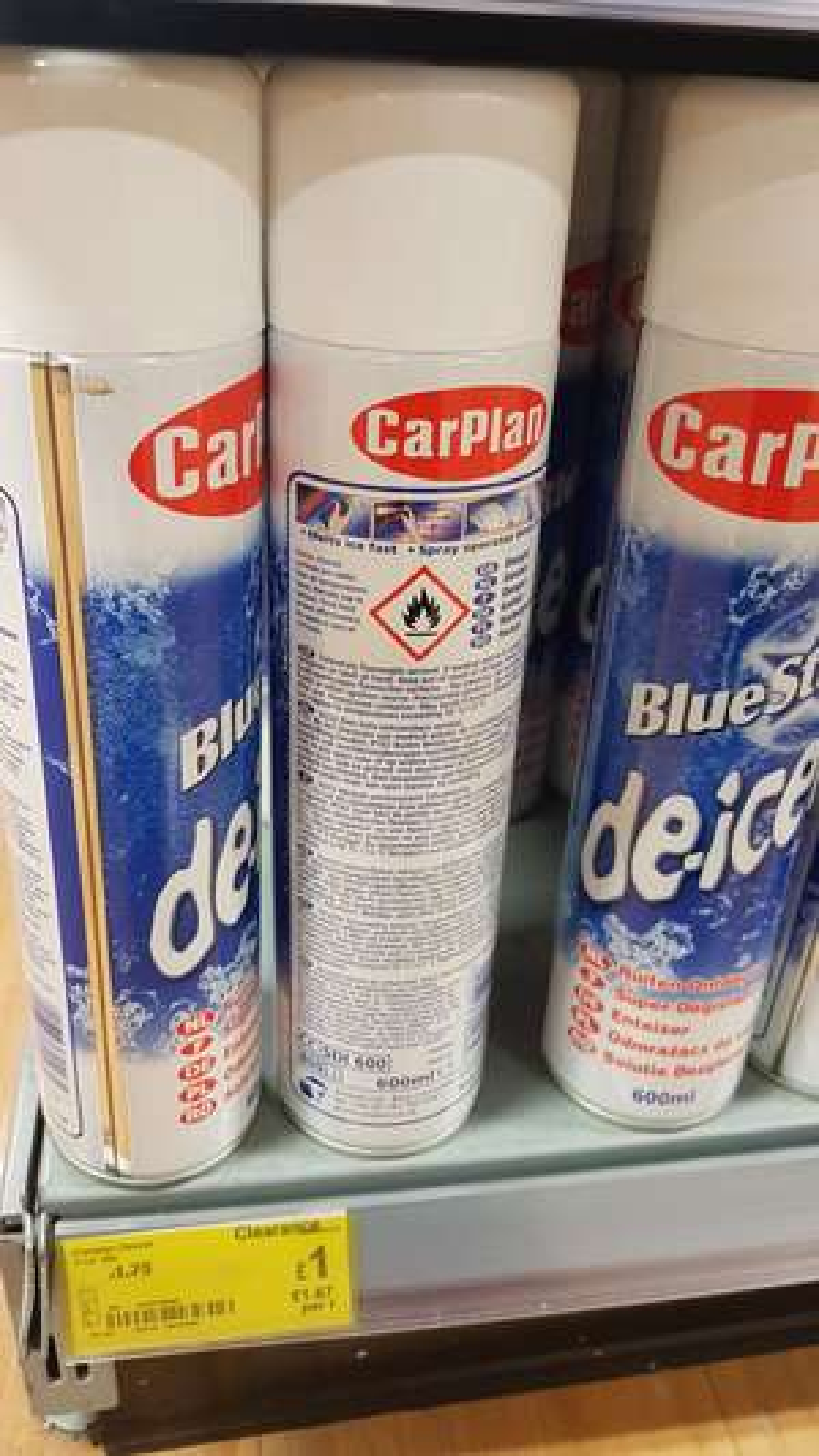 CarPlan De-icer 600ml -  £1 on clearance instore @ ASDA
