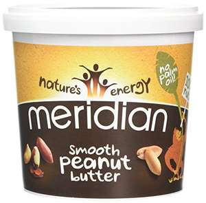 Meridian Smooth Peanut Butter 1000 Grams (Pack of 2) £10 Prime Exclusive @ Amazon