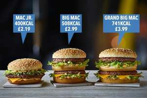 NEW Grand Big Mac (£4.19) Big Mac Jr (£2.19) - Limited Edition