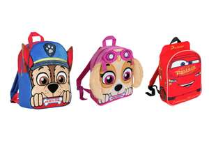 PAW Patrol Chase Bag or Skye Bag or Cars 3 Backpack for £4.99 @ Argos