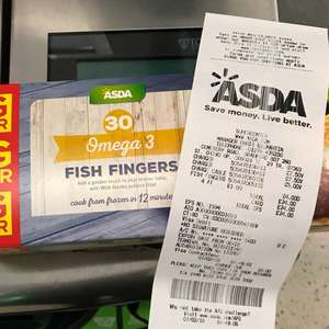 asda omega 3, 30 pack fish fingers only £1 instore at asda, cemetery road, bradford