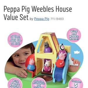 Peppa Pig Weebles Value Set With 5 Weebles £19.99 @ Argos