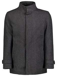 Mens Textured warm funnel neck coat M & L -  LOW stock £20 was £40 C+C @ Asda George