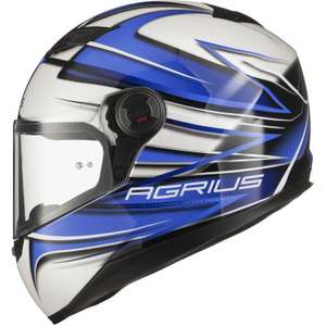 Agrius Rage Charger Motorcycle Helmet Full Face £23.99 delivered fast & free @ ghostbikes UK ebay