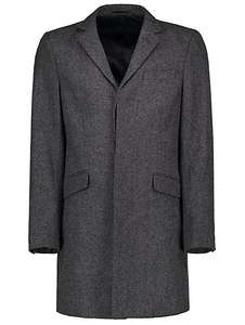 Men's WOOL BLEND subtle pinstripe overcoat ( plain & check available also ) £20 was £40 @ asda george
