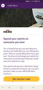 Coffee or Frappe milkshake or iced lemonade for 200 Nectar points rather 350 until 28th february @ Caffe nero