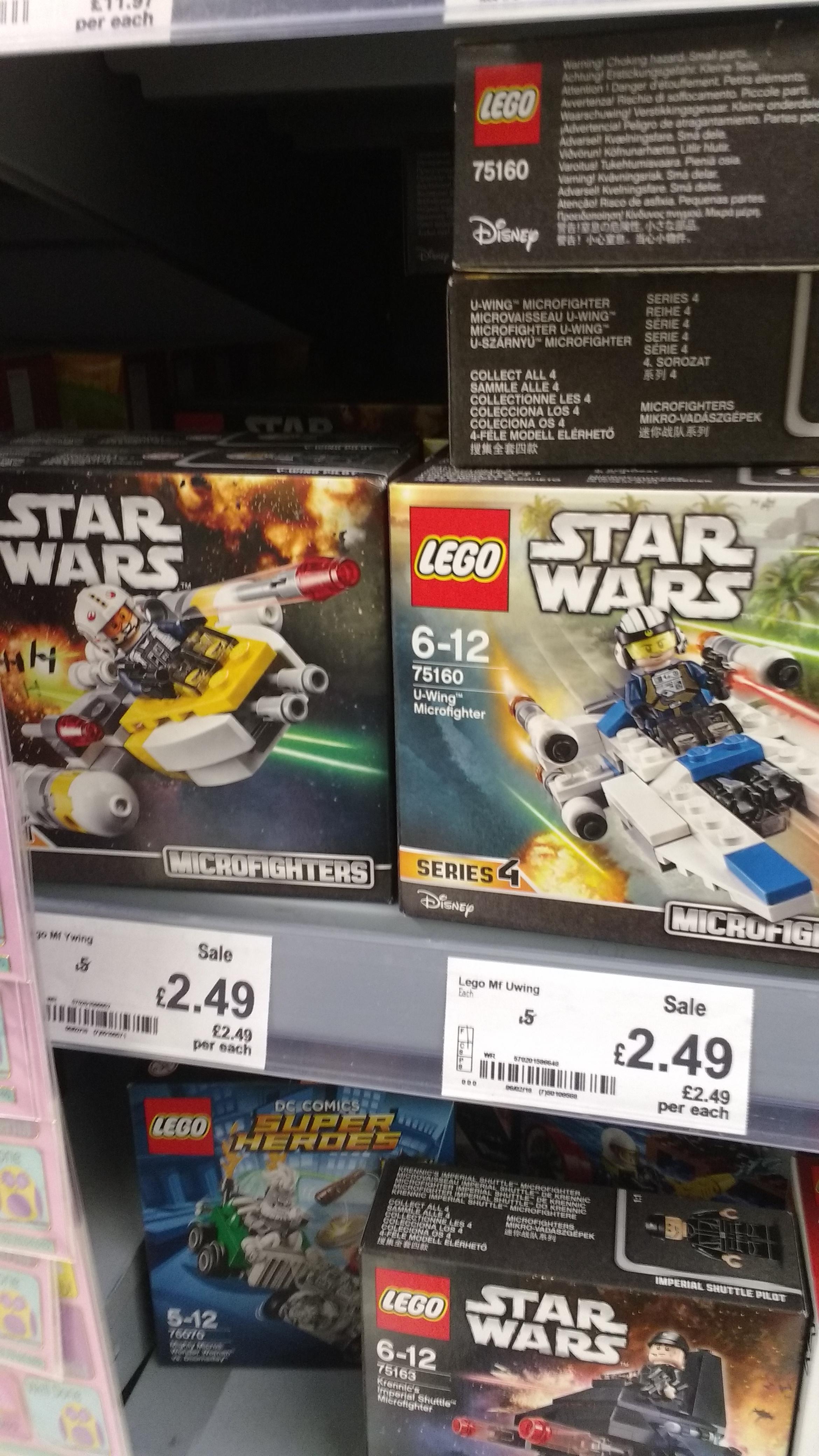 Lego Star Wars Microfighters £2.49 instore @ Asda Ellesmere Port