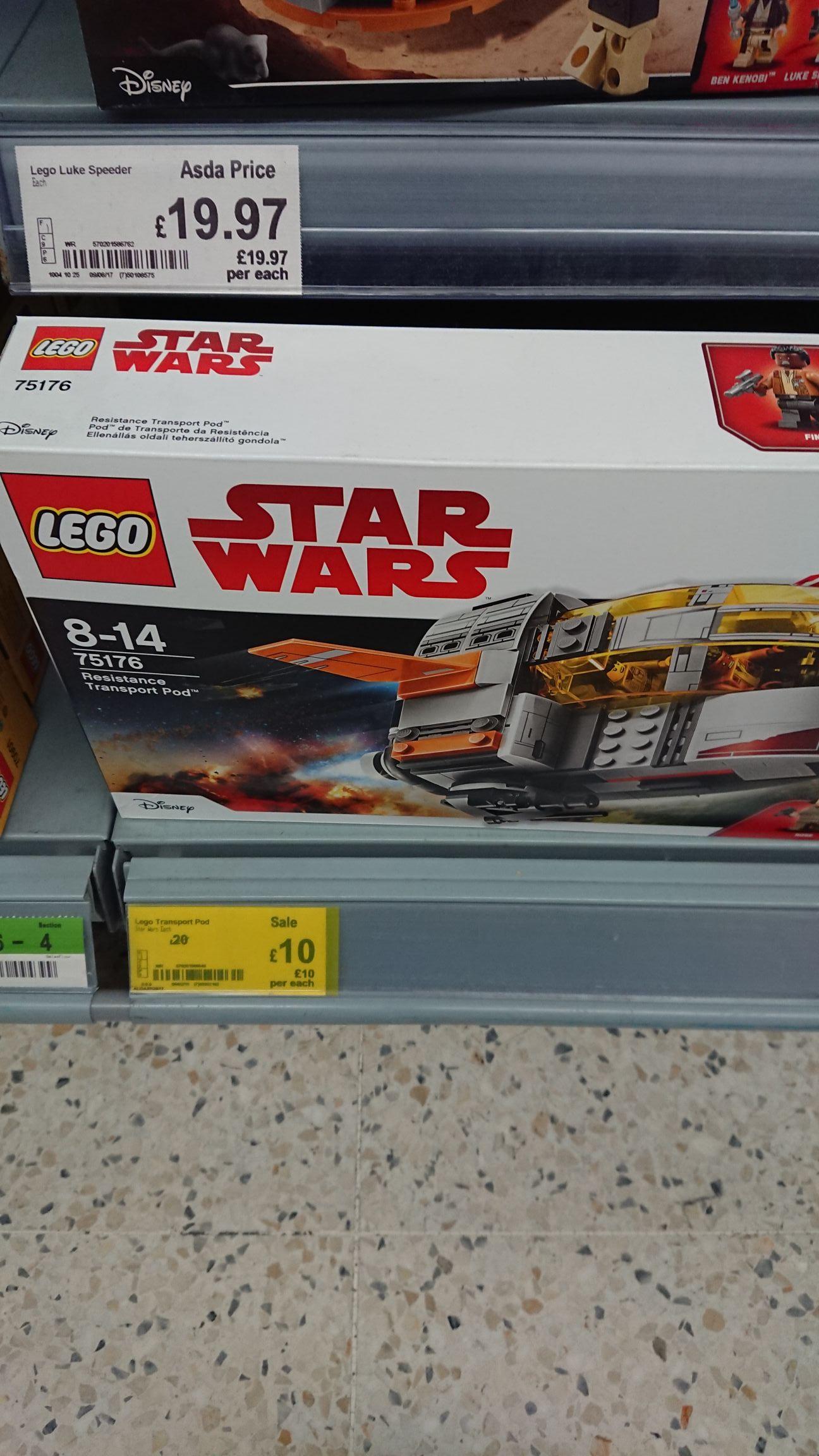 LEGO Star Wars resistance transport pod 75176 £10 instore @ Asda - Gateshead