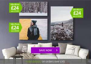 HUGE Personalised Canvas Prints for just £24 / £29 delivered @ Mypicture