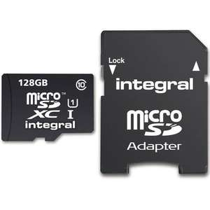 Integral 128GB Ultima PRO Micro SD Card (SDXC) UHS-I U1 + Adapter £26.12 @ MyMemory
