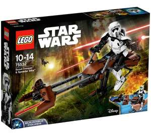 LEGO Star Wars Scout Trooper & Speeder Bike - 75532. RRP £49.99 - £31.99 @ Argos (possibly £26.99 with code lego5)