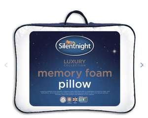 2 x Silent night Memory foam pillows for £22.50 with code @ Argos