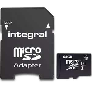 Integral 64GB Ultima PRO Micro SD Card (SDXC) - 90MB/s for £14.99 @ Mymemory