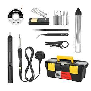4.65 off on  Soldering Iron Kit 60W - £12.34 (Prime) / £17.09 (non Prime)  Sold by ECmall and Fulfilled by Amazon