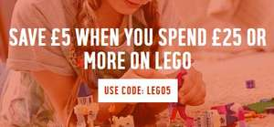 Save £5 when you spend £25 or more on Lego at Argos
