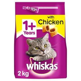 Whiskas 1+ Cat Complete Dry with Chicken 2kg £3.50 @ ASDA