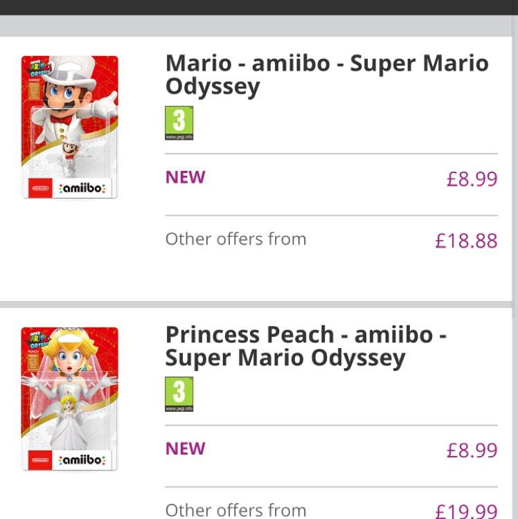 Super Mario Odyssey Amiibo @ GAME (Del) - £8.99