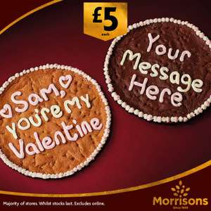 Giant Personalised Cookie instore @ Morrisons for £5 (Ideal for Valentines)