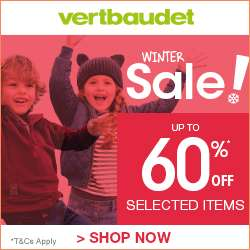 Extra 14% OFF Winter Clearance @ Vertbaudet